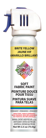 Brite Yellow Soft Fabric Paint- PMS 113 (2.5 oz Cans)