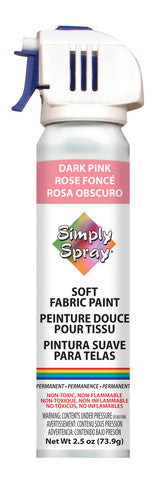 Dark Pink Soft Fabric Paint - (2.5 oz Cans)