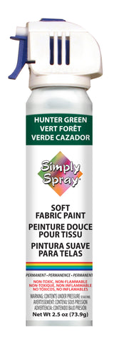 Hunter Green Soft Fabric Paint- PMS 343 (2.5 oz Cans)