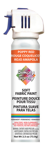 Poppy Red Soft Fabric Paint - (2.5 oz Cans)