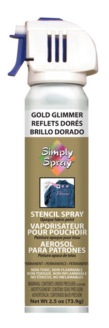 Gold Glimmer Stencil Paint- PMS 871 (2.5 oz Cans)