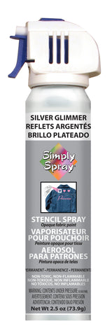 Silver Glimmer Stencil Paint- PMS 877