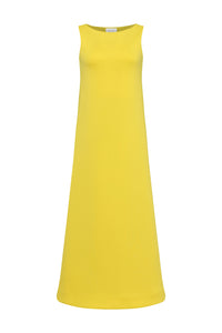 Lina Scuba Dress in Yellow