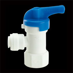 RO Storage Tank Valve, push-on, 1/4""