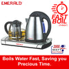Contemporary Office Electric Kettle + Hot Plate Tea Pot Set