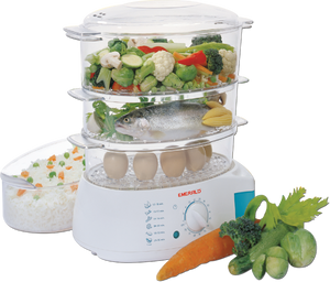 EA402FS 3 Tier/Level Food Steamer