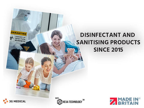3G Medical Disinfectant Products Headline Banner
