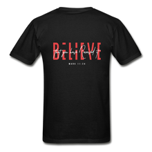 "Load image into Gallery viewer, ""Believe"" - Men's T-Shirt - black"