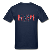 "Load image into Gallery viewer, ""Believe"" - Men's T-Shirt - navy"