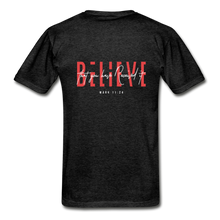 "Load image into Gallery viewer, ""Believe"" - Men's T-Shirt - charcoal gray"