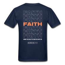 "Load image into Gallery viewer, ""Faith"" Men's T-Shirt - navy"
