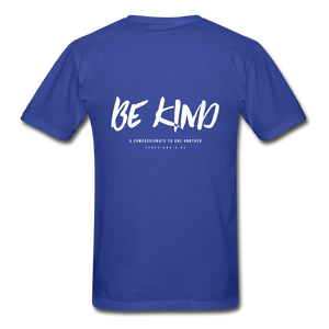 """Be Kind"" Mens T-Shirt - royal blue"