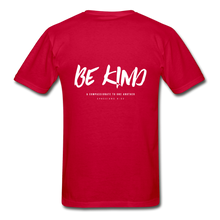"Load image into Gallery viewer, ""Be Kind"" Mens T-Shirt - red"