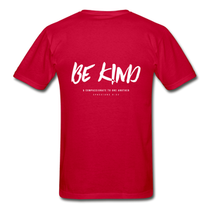 """Be Kind"" Mens T-Shirt - red"