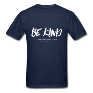 """Be Kind"" Mens T-Shirt - navy"
