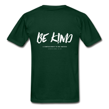 "Load image into Gallery viewer, ""Be Kind"" Mens T-Shirt - forest green"