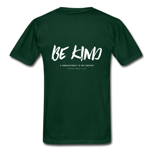 """Be Kind"" Mens T-Shirt - forest green"