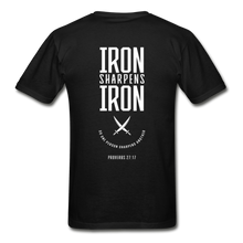 "Load image into Gallery viewer, ""Iron Sharpens Iron"" Men's T-Shirt - black"