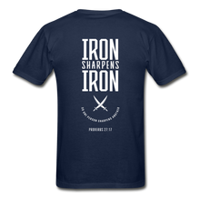 "Load image into Gallery viewer, ""Iron Sharpens Iron"" Men's T-Shirt - navy"