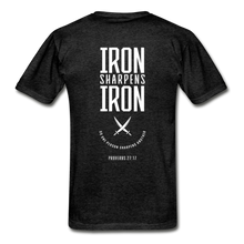 "Load image into Gallery viewer, ""Iron Sharpens Iron"" Men's T-Shirt - charcoal gray"