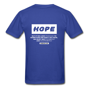 """Hope"" Men's T-Shirt - royal blue"