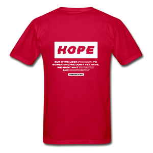 """Hope"" Men's T-Shirt - red"