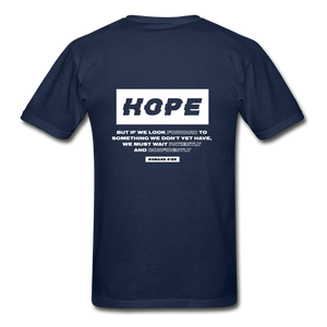 """Hope"" Men's T-Shirt - navy"
