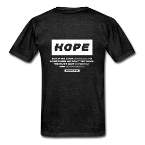 """Hope"" Men's T-Shirt - charcoal gray"