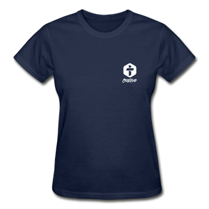 """Love Is Patient"" Women's T-Shirt - navy"