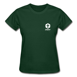 """Love Is Patient"" Women's T-Shirt - forest green"