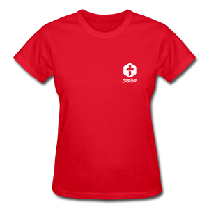 """Love Is Patient"" Women's T-Shirt - red"