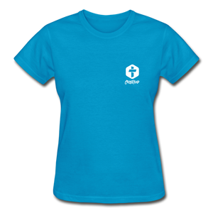 """Love Is Patient"" Women's T-Shirt - turquoise"