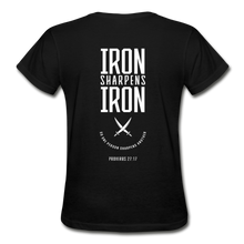 "Carregar imagem no visualizador da galeria, ""Iron Sharpens Iron"" Women's T-Shirt - black"