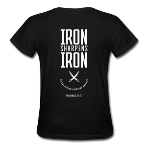 """Iron Sharpens Iron"" Women's T-Shirt - black"