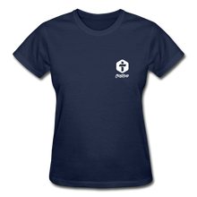 "Carregar imagem no visualizador da galeria, ""Iron Sharpens Iron"" Women's T-Shirt - navy"
