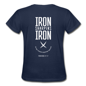 """Iron Sharpens Iron"" Women's T-Shirt - navy"
