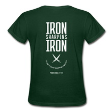 "Carregar imagem no visualizador da galeria, ""Iron Sharpens Iron"" Women's T-Shirt - forest green"