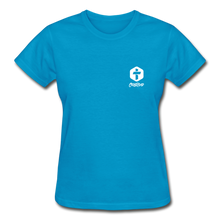 "Carregar imagem no visualizador da galeria, ""Iron Sharpens Iron"" Women's T-Shirt - turquoise"