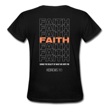 "Load image into Gallery viewer, ""Faith Alternative"" Women's T-Shirt - black"