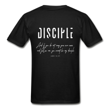 "Load image into Gallery viewer, ""Disciple"" - Men's T-Shirt - black"