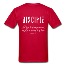 "Load image into Gallery viewer, ""Disciple"" - Men's T-Shirt - red"