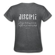 "Load image into Gallery viewer, ""Disciple"" - Women's T-Shirt - deep heather"