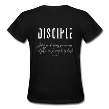 "Load image into Gallery viewer, ""Disciple"" - Women's T-Shirt - black"