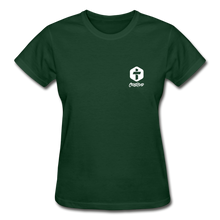 "Load image into Gallery viewer, ""Faith"" Women's T-Shirt - forest green"