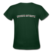 "Load image into Gallery viewer, ""COVID Antidote Alternative"" - Women's T-Shirts - forest green"