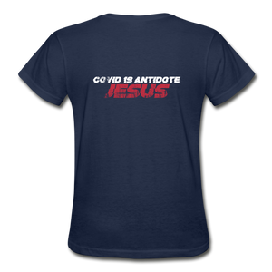 """COVID 19 Antidote"" Women's T-Shirt - navy"