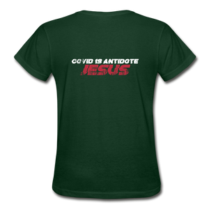 """COVID 19 Antidote"" Women's T-Shirt - forest green"