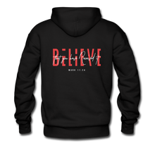 "Load image into Gallery viewer, ""Believe"" Men's Hoodie - black"