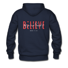 "Load image into Gallery viewer, ""Believe"" Men's Hoodie - navy"