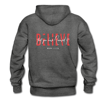 "Load image into Gallery viewer, ""Believe"" Men's Hoodie - charcoal gray"